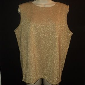 Bob Mackie Size M Gold Metallic Tank Top Shell